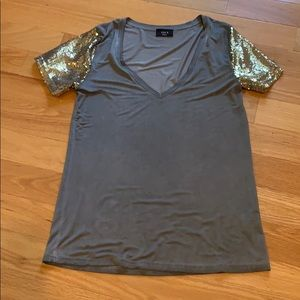 Jersey Shirt with Sequin Arms